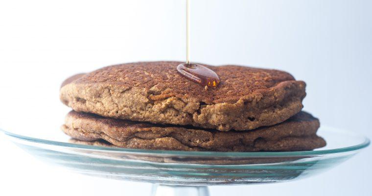Vegan Oatmeal Pancakes {gluten-free}